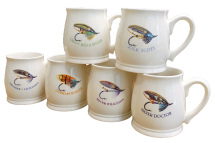 Bell Mugs Salmon Fly Series Set of 6