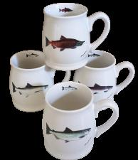 Bell Mugs Salmon Series Set of 4
