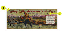 Personalized Signs On Wood Or Metal - Fisherman By And By