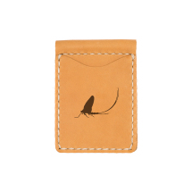 Mayfly Money Clip Leather Wallet