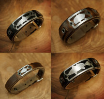 Leather Bracelets - Saltwater Stainless