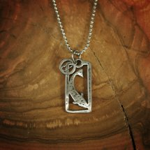 Silver Trout Stargazer Pendant With Hook Charm Necklace