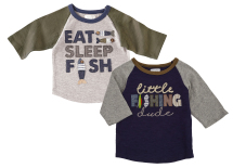 Fishing T-Shirts 1 Each 2-Styles