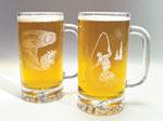 Etched Beer Steins