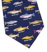 Trout Family Silk Necktie