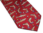 Rainbow Trout Silk Necktie