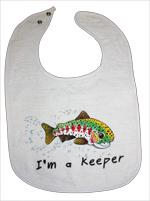 """""""I'm a Keeper"""" Baby Bib"""