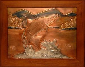 Framed Copper Art