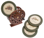 Ceramic Coasters with Reel Holder