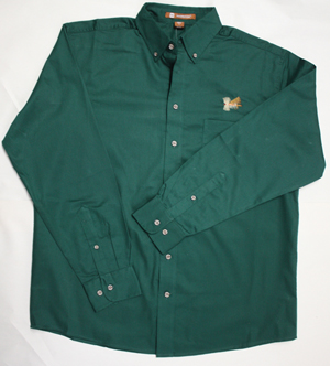 Button down shirt with embroidered fly shirts store name for Embroidered fishing shirts
