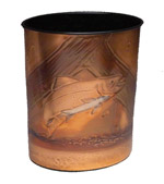 Copper Wastebasket