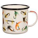 Enamel Mugs With Flies or Fish