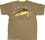 Old Guys Rule Brown Trout T-shirt