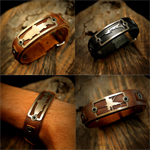Bracelet // Leather Cuff - Freshwater Stainless