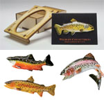 Hand Painted Trout Pins