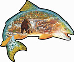 Trout Shaped Puzzle