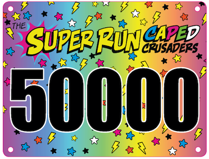 Caped Crusaders Race Bib