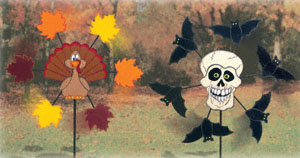 All Halloween Fall Holiday Whirligigs Wood Project Plan
