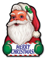 Merry Santa Magnet
