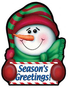 Greeting Snowman Magnet