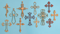 12 Ornamental Wall Cross Patterns