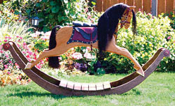 Large Rocking Horse Woodworking  Pattern