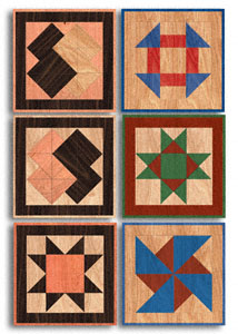 Scroll Saw Wall Art Small Quilt Squares Wood Pattern