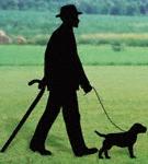 Man & Dog Shadow Woodcrafting Pattern