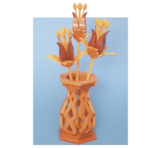 Compound Cut Fantasy Flowers & Vase Project Patterns