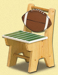 Children's Sized Football Chair Project Pattern