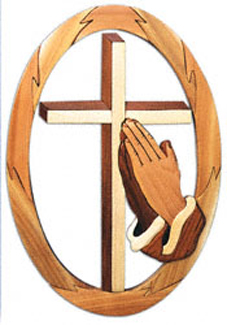 Praying Hands With Cross Project Pattern