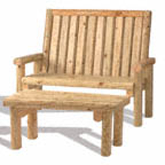 Rustic Love Seat & Coffee Table Woodcraft Patterns