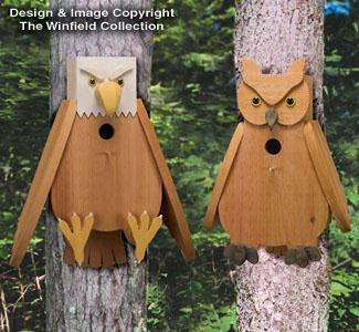 Cedar Eagle & Owl Birdhouse Plans