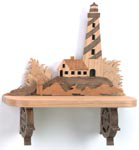 Secluded Lighthouse Shelf Project Pattern