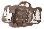 Wolves Clock Plaque Project Pattern