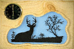 Watchful Eye Deer Clock Plaque Project Pattern