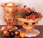 Wooden Ribbed Bowl & Vase #2 Project Pattern
