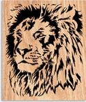 Jungle King Scrolled Art Project Pattern