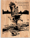 Eagle Reflection Scrolled Art Project Pattern