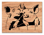 Pigs In A Basket Scrolled Art Project Pattern