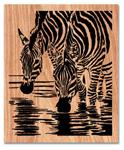 Zebra Drink Scrolled Art Project Patterns
