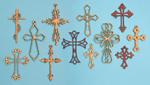 Ornamental Wall Cross Project Pattern