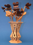 Mini Violets & Vase Compound Cut Project Patterns