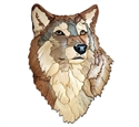Wolf Head Intarsia Project Pattern
