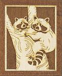 Raccoons Scroll Saw Pattern