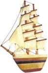 2-Mast Sailboat Intarsia Project Pattern