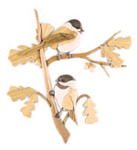 Perched Chickadees Intarsia Project Pattern