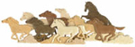 Running Wild Horse Intarsia Project Pattern with Poster