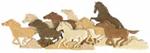 Running Wild Horses Intarsia Project Pattern