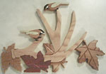Chickadees & Antler Intarsia Project Patterns